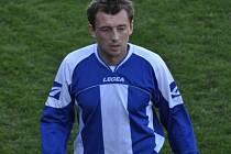Fotbalisté Sedlice proti Horažďovicím dvakrát vedli, jenže soupeř dokázal vždy vyrovnat. Na snímku je Martin Běloušek, který dal z penalty na 2:1 pro Sedlické.