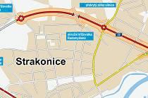 Kudy povede severní dopravní půloblouk ve Strakonicích.