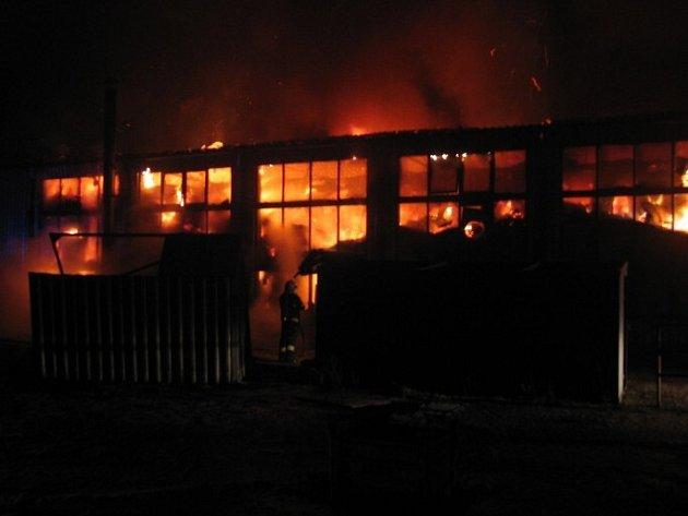 Požár v Katovicích.