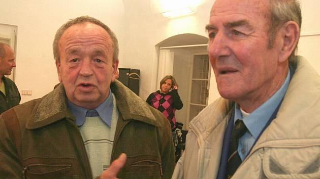 Dvě sportovní legendy, boxeři František Šíp (vlevo) a Josef Němec.