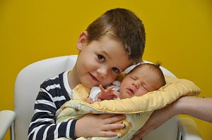 Miminka narozená ve strakonické porodnici.