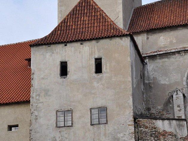 Strakonický hrad: Jihozápadní věž.
