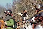 Letošní tradiční rekonstrukce bitvy u Sudoměře byla zalitá jarním sluncem.