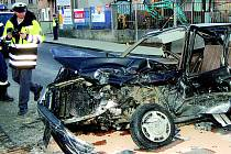 Řidička osobního vozu měl štěstí.
