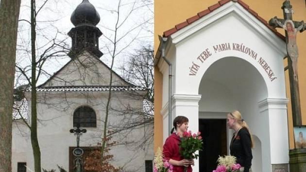 Kaplička v Nihošovicích (vlevo) a v Milejovicích, kde zloději řádili.
