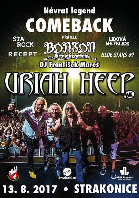 Vneděli při koncertu legend ve strakonickém letním kině vystoupí ibritští Uriah Heep.