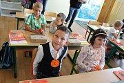 První školní den na ZŠ F. L. Čelakovského ve Strakonicích.