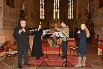 Flétnový Velikonočního koncert v kostele Narození Panny Marie ve Vodňanech .