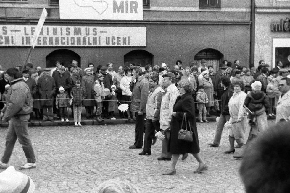 Oslavy 1. máje ve Strakonicích.