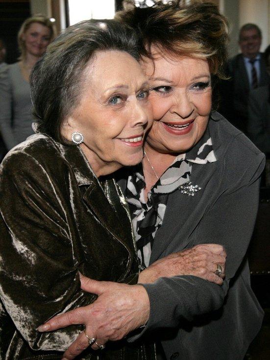 Jiřina Jirásková s Jiřinou Bohdalovou.