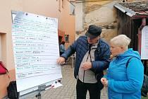 Na dvorku u vodňanské knihovny veřejnost plánovala jeho úpravy.