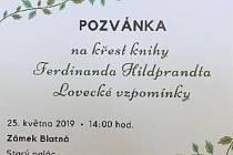 V Blatné proběhne křest knihy Lovecké vzpomínky.