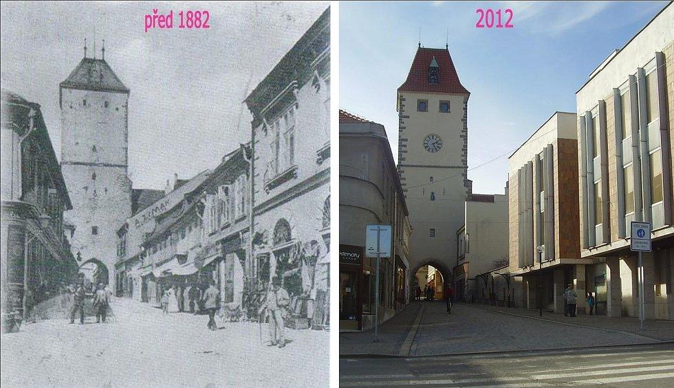 Pražská brána. Za 130 let se stanou věci… Brána byla upravena ve druhém desetiletí 20.století Kamilem Hilbertem