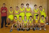 Družstvo minižáků BK Kralupy Junior