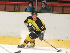 HC Junior Mělník (ve žlutém) - SK Černošice (7:3); 2. semifinále KL; 28. února 2015