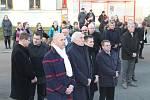 Ze vzpomínkové akce Pocta Janu Palachovi v Mělníku.