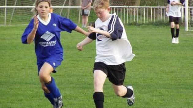 Ze zápasu Danone Cupu s mladšími žáky Velkého Borku.