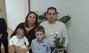 Celkem pět nově narozených dětí přivítala na obecním úřadě v Řepíně děvčata z místní školy zpěvem.
