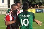 Fotbalisté Záp porazili ve vloženém kole ČFL Nymburk (v zeleném) 1:0.