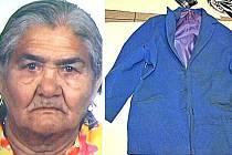 Z domova odešla seniorka (nalevo) v osm hodin ráno, syn ji nalezl až po devíti hodinách. Kdy a kde přesně došlo k dopravní nehodě, zatím není jasné. Pomoci by mohli svědkové, kteří ženu v modrém kabátě viděli.