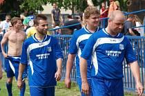 Okresní přebor: Kralupy 1901 (v modrém) - Veltrusy