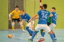 V prvním domácím utkání letošního roku Olympik Mělník (v modrém) přehrál tým Žabinští Vlci Brno 7:2. V úterní dohrávce narazí na silnou Plzeň.