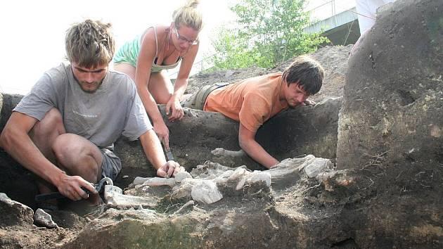 Archeologické nálezy u mělnického přístavu.