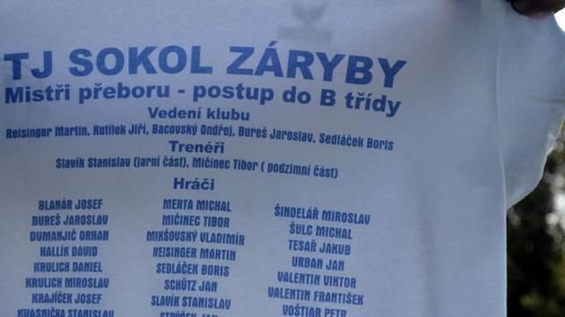 Okresnímu přeboru Mělnicka ročníku 2013/2014 vládli fotbalisté Sokola Záryby.