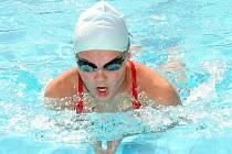 Nicole Fryčová během tréninku v mělnickém bazénu.