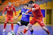 Varta liga, 4. kolo: Helas Brno (v červeném) - Olympik Mělník