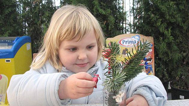 Zahájení předvánoční výstavy v Zahradním centru Jelínek ve Veltrusech.