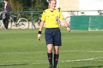Lucie Šulcová, fotbalová rozhodčí.