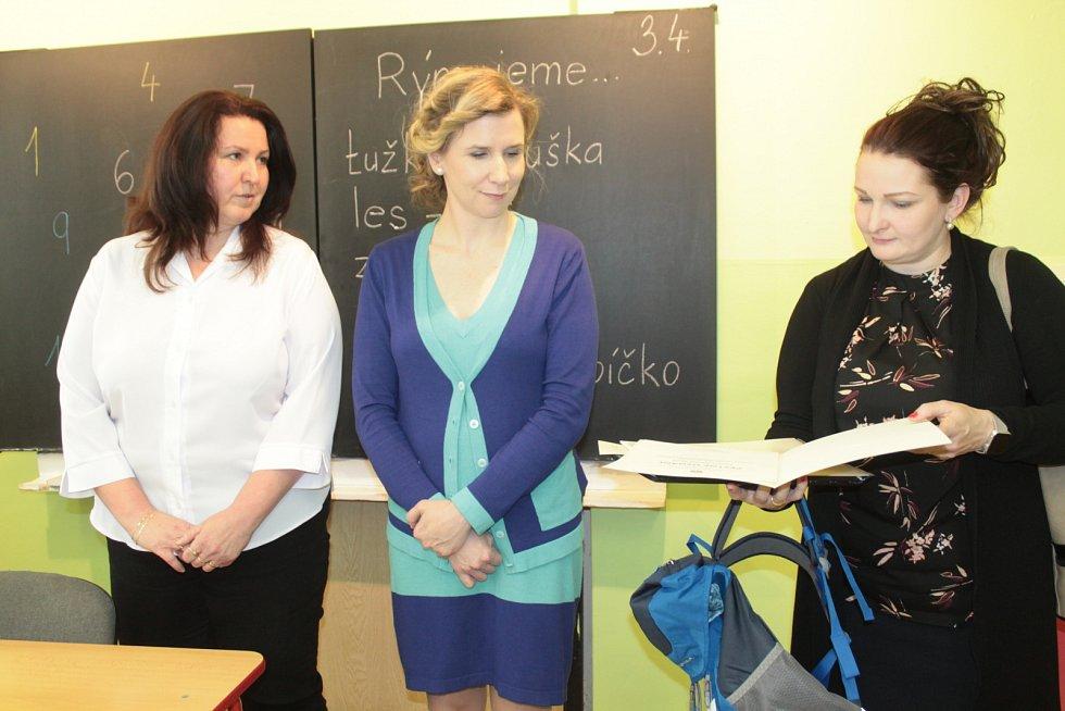 Ministryně školství, mládeže a tělovýchovy Kateřina Valachová v Mělníku.