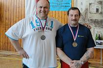 Mělničtí medailisté - Miroslav Pavlíček a Štefan Zvada.