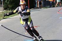 V loňském roce se stal mistrem České republiky v inline slalomu Jan Moeller (na snímku). Letos je dokonce šestým mužem Světového poháru WIAC.