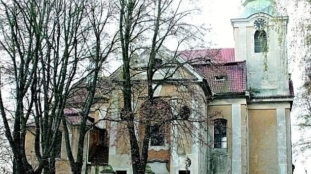 Kostel sv. Máří Magdalény v Chlumíně.