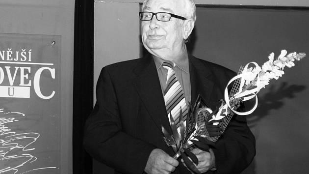 Jiří Fabian během vyhlášení ankety Sportovec okresu 2014