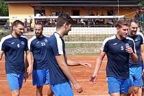 Extraligoví hráči Odolena Vody se zúčastnili utkání na podporu volejbalu v Lupenicích.