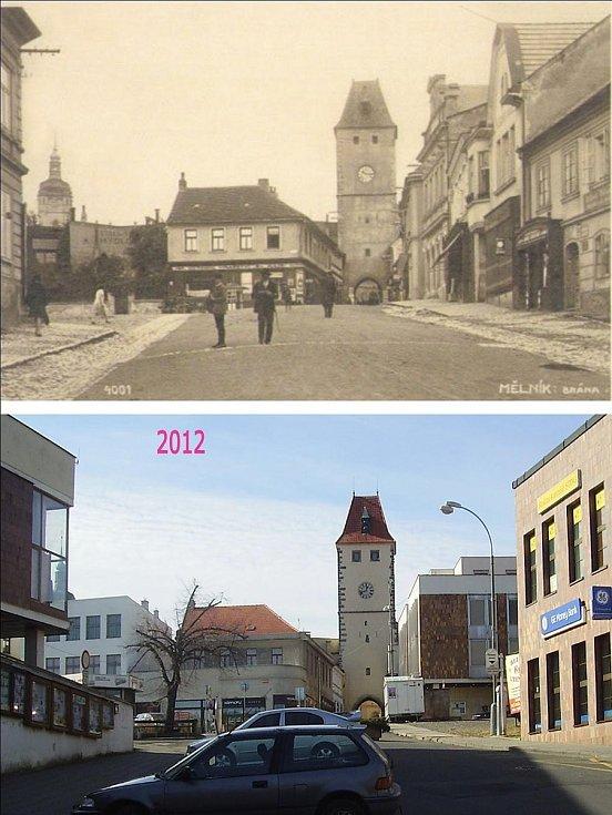 Karlovo náměstí. Zůstala Pražská věž, mírně upravený Hauptův dům. Věž kostela se téměř schovala za novou zástavbu. Celé náměstí je proměněné podle architektů druhé poloviny dvacátého století. Není to zrovna nejhezčí kout v pěkném městě. A tak mi ani nevad