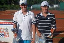 Finalisté mělnického turnaje dospělých kategorie C - Petr Setinský a Karel Pakandl.