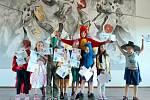 Děti se vypravily s Modroočkem do pohádky v Mokrosukách.