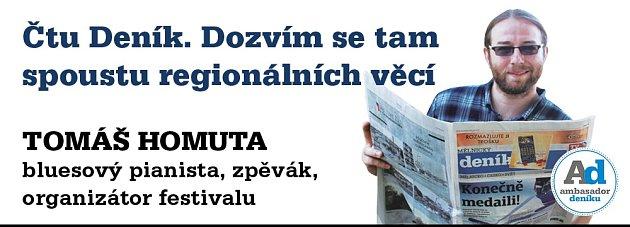 Ambasador Mělnického deníku Tomáš Homuta.