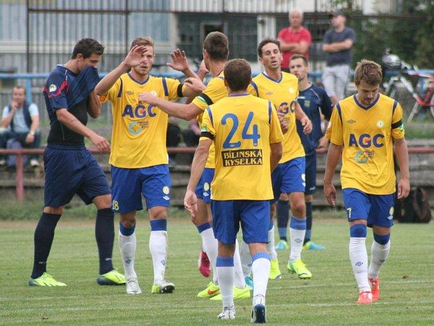 FK Neratovice/Byškovice (vmodrém) - FK Teplice, 2.kolo Poháru České pošty, 12.srpna 2014