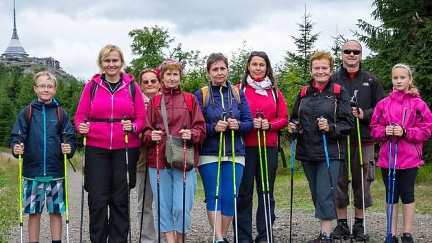 Nordic walking výlet na Ještěd.