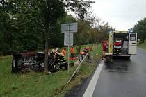 V obci Velký Borek na Mělnicku došlo dnes odpoledne k dopravní nehodě.