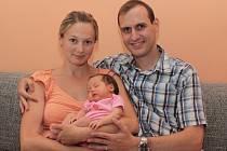 Štěpánka Nalezínková s rodiči Pavlínou a Lubošem.