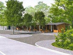 V prostoru nové tržnice by mělo stát zhruba deset stánků, deset parkovacích míst, lavičky i sociální zařízení.