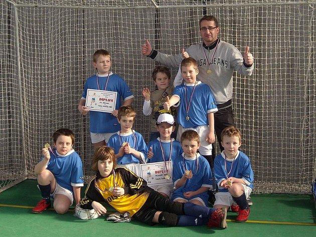 Mladší přípravka FK Pšovka ovládla turnaj v hale BIOS.