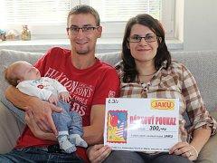 Toník Kubišta se rodičům Aleně a Michalovi narodil 21. září 2015.