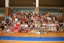Z oslav 50. výročí ženského basketbalu v Kralupech.